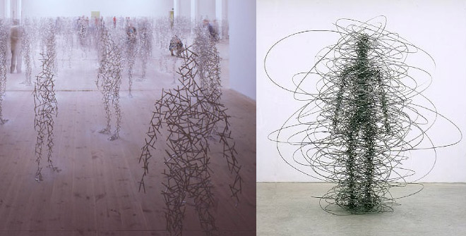 The brilliant work of sculptor Antony Gormley seems strangely relevant here.