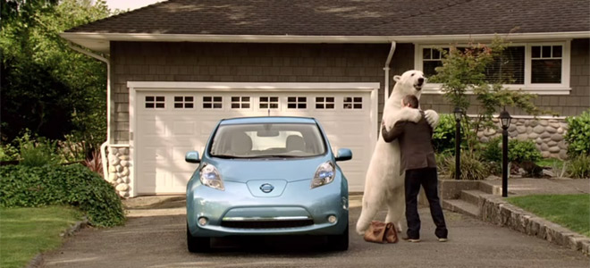 Nissan Leaf polar bear Advertisment