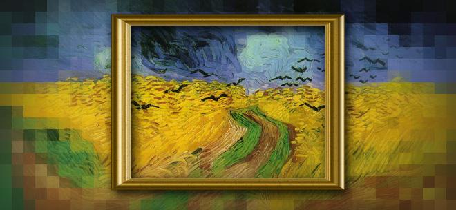 Wheat Field Under Threatening Skies, 1890, Vincent van Gogh