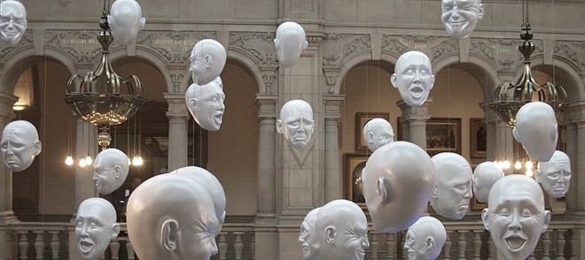 art installation by Sophie Cave (2009), Kelvingrove Art Museum, Glasgow Scotland - photo by Trent Strohm