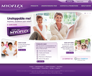 Myoflex Home Page Concept frame 02