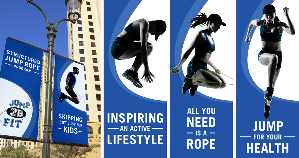Bermuda Heart Foundation - Jump 2B Fit - Outdoor Pole Banners