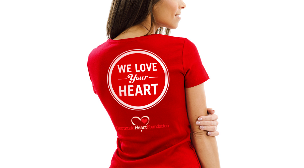 Bermuda Heart Foundation - Core Heart Health - We Love Your Heart T-Shirt