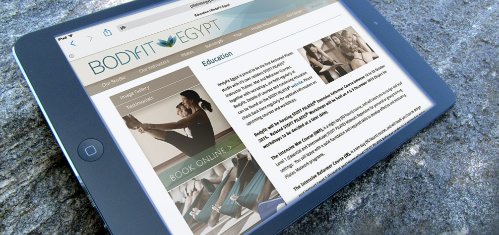 BodyFit Egypt education mobile page