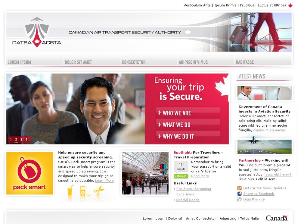 CATSA Home Page Concept