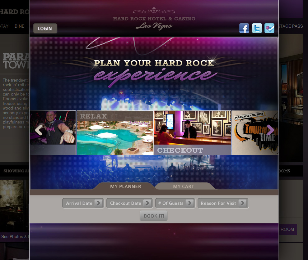 Hard Rock Hotel Las Vegas - Booking System Landing Page - view 02