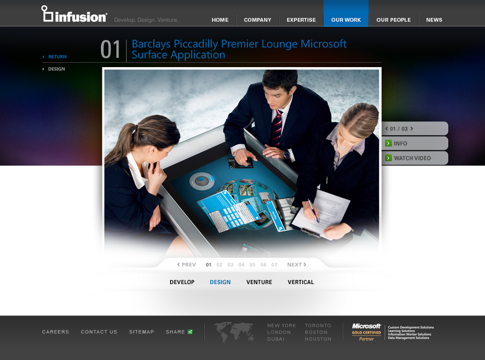 Infusion Our Work Detail Page