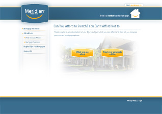 Mortgage Calculators Landing Page