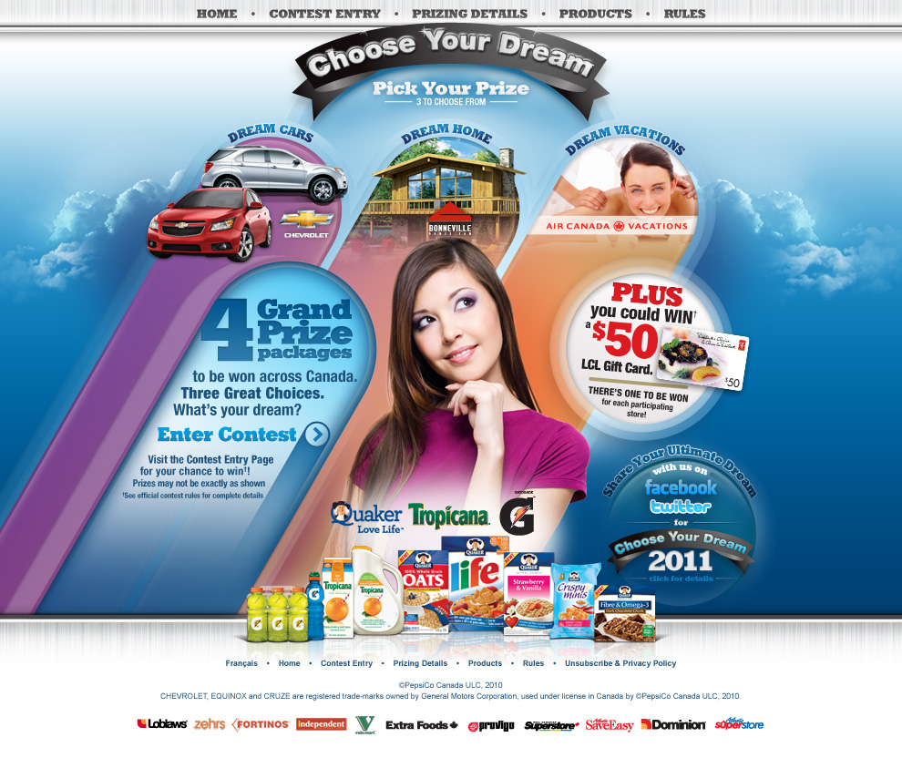 QTG Choose Your Dream Home Page