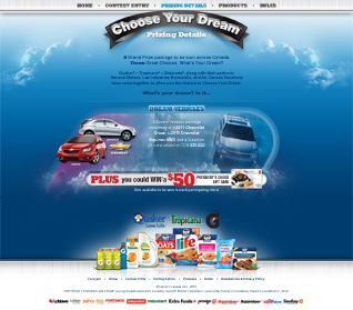 QTG Choose Your Dream Prizing Details Page