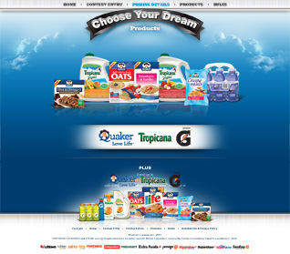 QTG Choose Your Dream Products Page