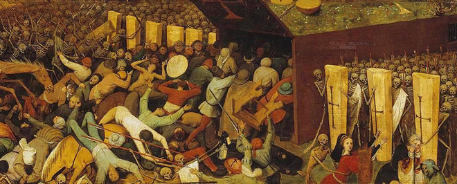 """Detail from Pieter Bruegel's """"The Triumph Of Death"""", oil on panel, c. 1562"""
