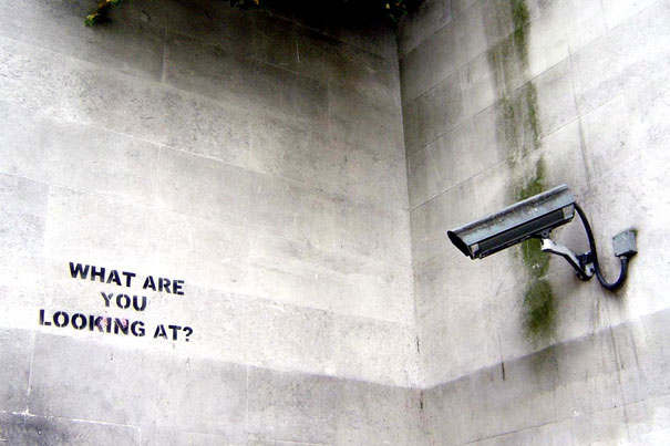 Banksy graffiti street art what are you looking at