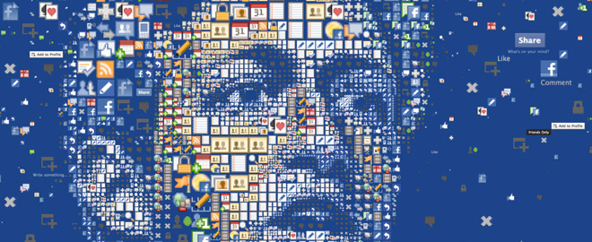 Mosaic portrait of Facebook's co-founder, CEO and President, Mark Zuckerberg - by Charis Tsevis